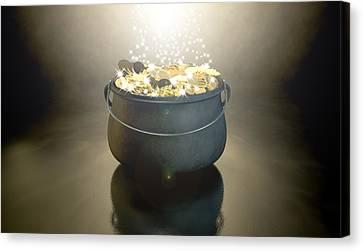 Pot Of Gold Canvas Print by Allan Swart