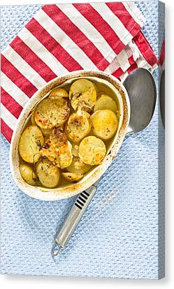 Potato Dish Canvas Print by Tom Gowanlock