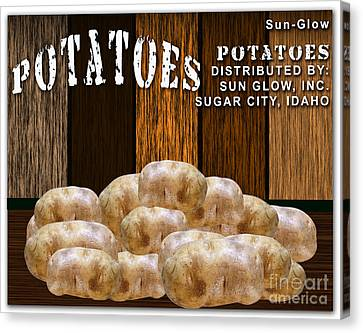 Potato Farm Canvas Print by Marvin Blaine
