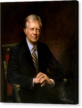 President Jimmy Carter Canvas Print by War Is Hell Store