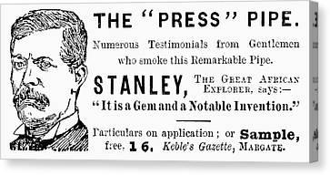 'press' Pipe, 1893 Canvas Print by Granger