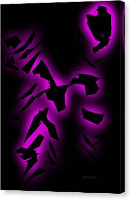 Purple Abstract Art Canvas Print by Mario Perez