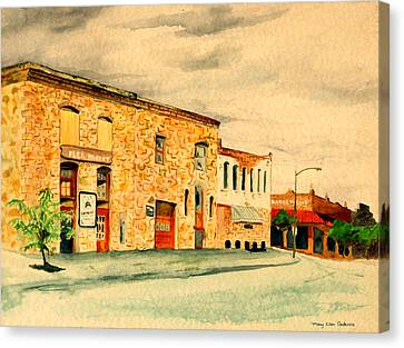 Quantrill's Flea Market - Lawrence Kansas Canvas Print by Mary Ellen Anderson
