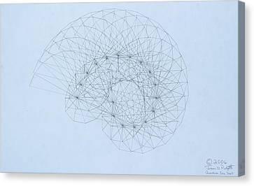 Quantum Nautilus Canvas Print by Jason Padgett