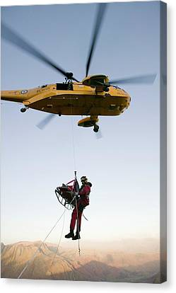 Raf Sea King Helicopter Canvas Print by Ashley Cooper