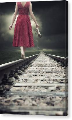 Railway Tracks Canvas Print by Joana Kruse