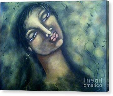 Ravenspeak Canvas Print by Maya Telford