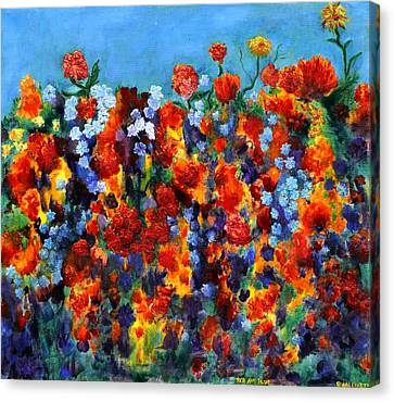 Red And Blue Canvas Print by Regina Valluzzi