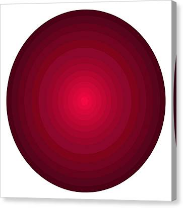Red Circles Canvas Print by Frank Tschakert