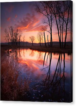 Red Dawn Canvas Print by Ray Mathis