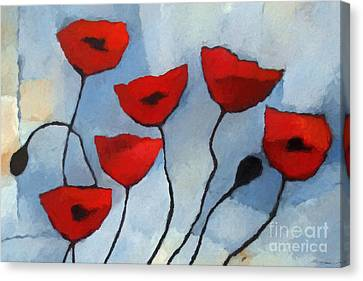 Red Poppies Canvas Print by Lutz Baar