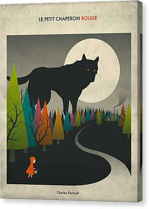 Red Riding Hood  Canvas Print by Jazzberry Blue