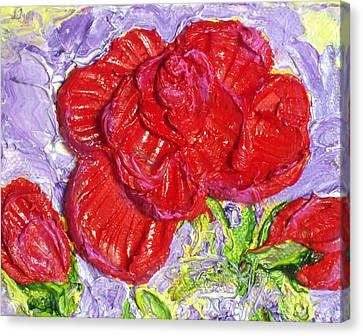Red Rose Canvas Print by Paris Wyatt Llanso