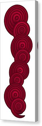 Red Spirals Canvas Print by Frank Tschakert