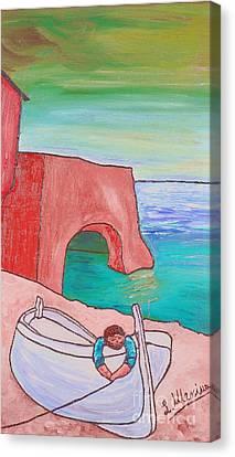 The White Boat. Canvas Print by Loredana Messina