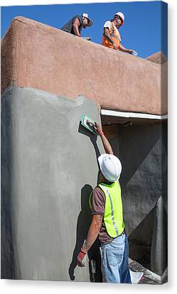 Repairing White Sands Visitor Centre Canvas Print by Jim West