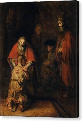 Return Of The Prodigal Son Canvas Print by Rembrandt van Rijn