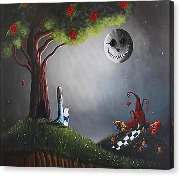 Alice In Wonderland Original Artwork Canvas Print by Shawna Erback