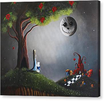 Alice In Wonderland Original Artwork Canvas Print by Shawna Erback