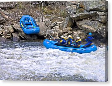 River Rafting Canvas Print by Susan Leggett
