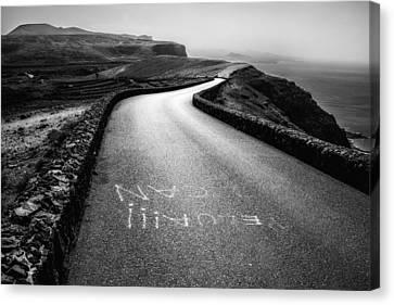Road To Mirador Del Rio Canvas Print by Mountain Dreams