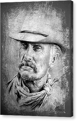 Robert Duvall Canvas Print by Andrew Read