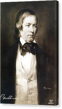 Robert Schumann (1810-1856) Canvas Print by Granger