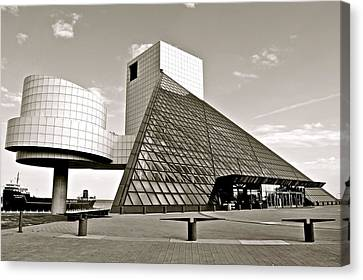Rock Hall Of Fame Canvas Print by Frozen in Time Fine Art Photography