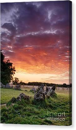 Rollright Stones Sunrise Canvas Print by Tim Gainey