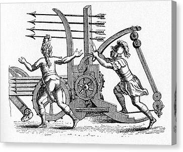 Roman Ballista Canvas Print by Cci Archives