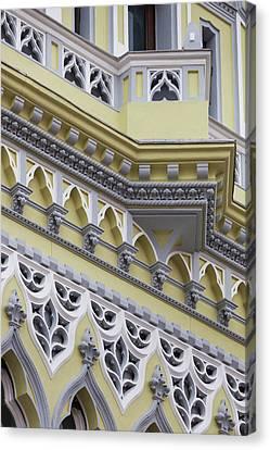 Romania, Transylvania, Brasov, Building Canvas Print by Walter Bibikow