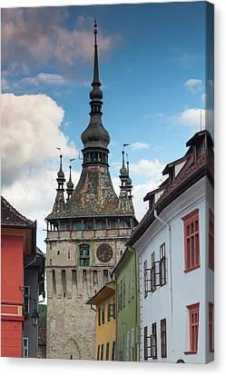 Romania, Transylvania, Sighisoara Canvas Print by Walter Bibikow