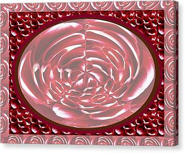 Romantic Decor Using Heart Shaped Flower Petals For Transformation  With Photo Shop Utilities Canvas Print by Navin Joshi