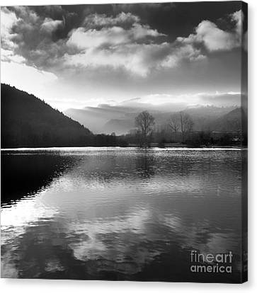Romantic Lake Canvas Print by Bernard Jaubert
