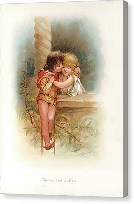 Romeo And Juliet Canvas Print by British Library