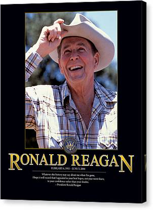 Ronald Reagan Canvas Print by Retro Images Archive