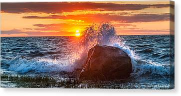 Rough Sea Canvas Print by Bill Wakeley