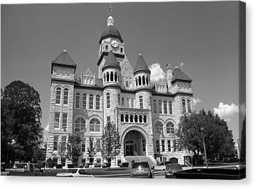 Route 66 - Jasper County Courthouse Canvas Print by Frank Romeo
