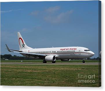 Royal Air Maroc Boeing 737 Canvas Print by Paul Fearn