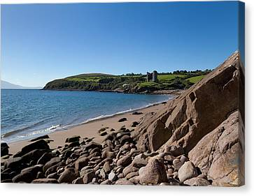 Ruined 16th Century Minard Castle Canvas Print by Panoramic Images