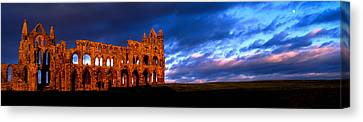 Ruins Of A Church, Whitby Abbey Canvas Print by Panoramic Images