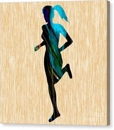 Runner Canvas Print by Marvin Blaine