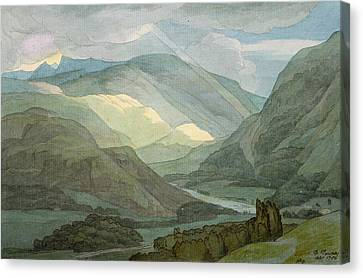 Rydal Water Canvas Print by Francis Towne