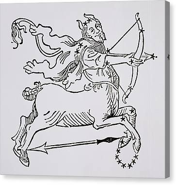 Sagittarius An Illustration Canvas Print by Italian School