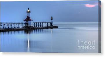 Saint Joseph Michigan Lighthouse Canvas Print by Twenty Two North Photography