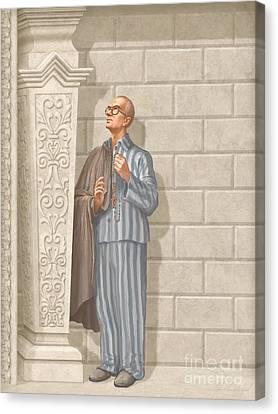 Saint Maximilian Kolbe Canvas Print by John Alan  Warford