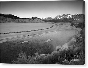 Salmon And The Sawtooths Canvas Print by Idaho Scenic Images Linda Lantzy