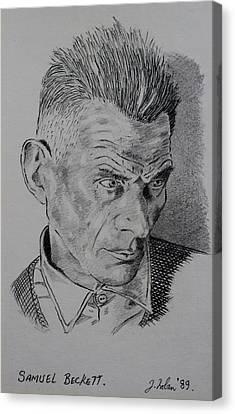 Samuel Beckett Canvas Print by John  Nolan