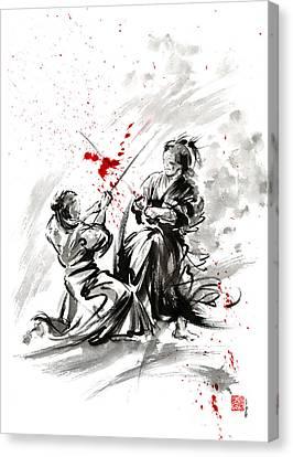 Samurai Bushido Code Canvas Print by Mariusz Szmerdt