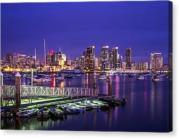 San Diego Harbor Canvas Print by Joseph S Giacalone